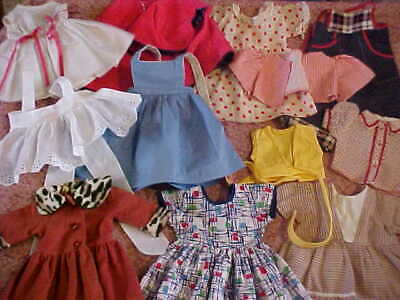 Vintage 1950's Clothing Lot For Compo, Hard Plastic Doll / Factory & Home Made