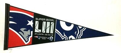 2018 Superbowl 53 Duel New England Patriots Los Angeles Rams Pennant FREESHIP