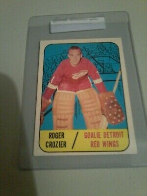 1967-68 Topps hockey card lot of 3 cards EXMT- Crozier, Maki