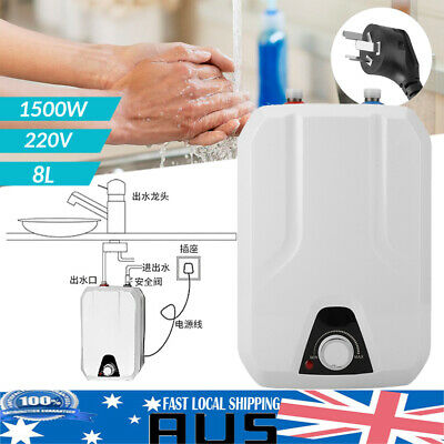8L Mini Instant Electric Tankless Hot Water Heater System Under Sink Tap Faucet