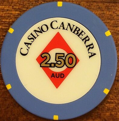 $2.50 Casino Canberra - Casino Chip new release chip 2.50 AUD