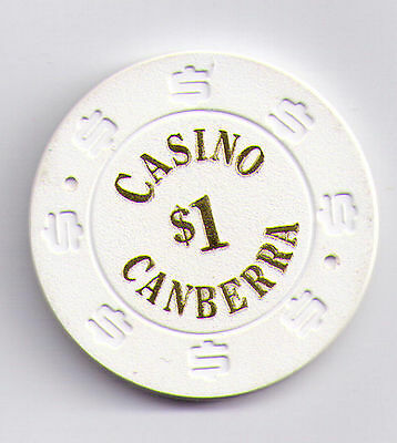 $1 Casino Canberra Casino Chip with $ etched around edge