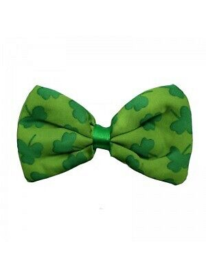 9a96ffbd2c50 St Patricks Day Ireland Irish Green Shamrock Lucky Clover Bow Neck Tie