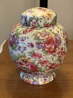 Royal Winton Summertime Chintz Grimwades China Jar With Lid