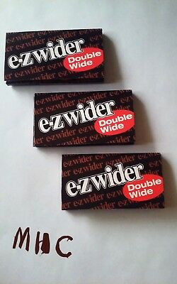 3 Books! EZ-WIDER Double Wide Cigarette Rolling Papers!