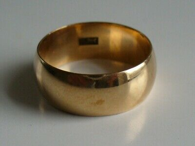 Early 1900's 14K Yellow Gold Ring Band. Large 6.4 Grams Size 9