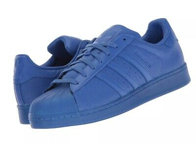 ADIDAS ORIGINALS ADICOLOR Superstar Monotone Blue Shoes Retro OG S80327 1703 08