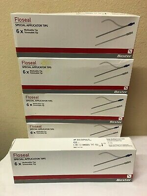 Baxter Floseal Special Applicator Tips 6 1502186 EXP: 2019/10/31 Lot Of 5