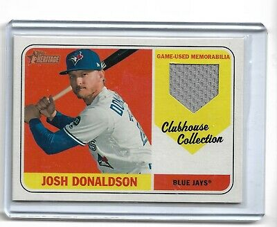 Josh Donaldson Toronto Blue Jays 2018 topps heritage Clubhouse collection relic