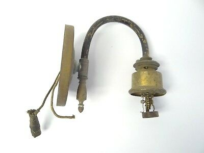 Antique Old Brass Solo Bent Wall Sconce Single Electric Light Lighting Parts