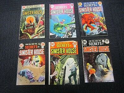 Secrets Of The Sinister House comic lot - 1972, nice bronze horror