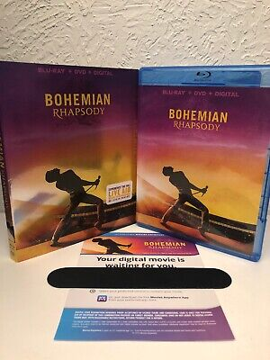 Bohemian Rhapsody Blu ray + Digital HD!! NO DVD IS INCLUDED! Please Read!!