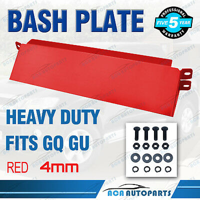 RED Bash Plate Fits Nissan GQ GU Patrol Steering Arm Guard 4mm Thick BRAND NEW