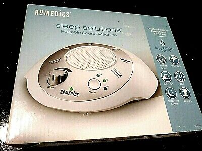 Homedics Sleep Solution Portable Sound Machine -White Noise,Nature,Peace SS-2020