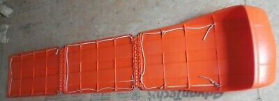 Vintage Folding Plastic Rescue Meadow Toboggan Sled almost 8 Feet Long 90 inches