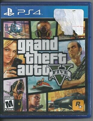 Grand Theft Auto V 5 PS4 (Sony PlayStation 4, 2014) Complete