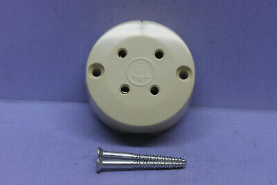 AT&T Bell System Western Electric Almond / Ivory 4-Prong Female Telephone Jack
