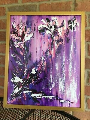 Abstract Floral Art Flowers Original Acrylic Impressionist