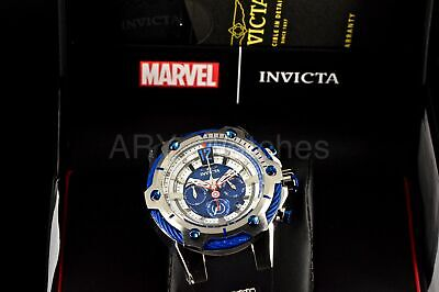 25988 Invicta Men's Marvel Captain America Black Silver Polyurethane Steel Watch