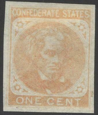 CONFEDERATE STATES OF AMERICA, Scott #14 Stamp, signed on back