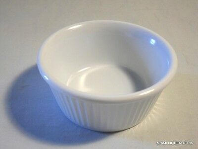 Lot of 48 4oz fluted shallow Ramekin Carlisle S28902 white 4 doz BPA free
