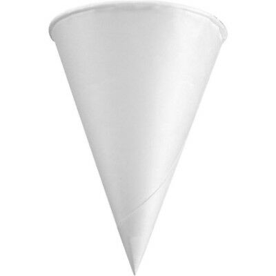 Genpak 4.5 oz 200 Compostable Paper Cone Water Cup - Recyclable, Rolled Rim W42F