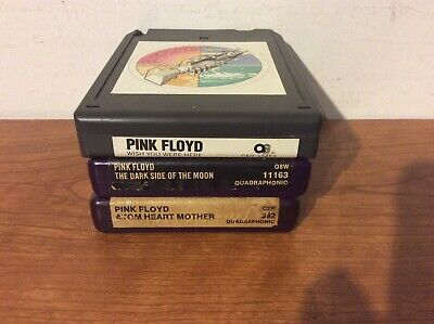 Pink Floyd- Dark Side~Atom Heart Mother~Wish You Were Here~Lot Of 3 Quad 8 Track