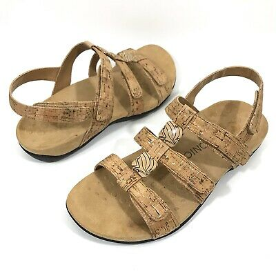 bd8567b474b Vionic Size 10 Amber Sandals Adjustable Orthaheel Cork Ankle Strap Arch  Support