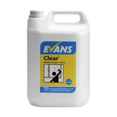 Evans Clear - Window, Glass & Stainless Steel Cleaner 5 Ltr