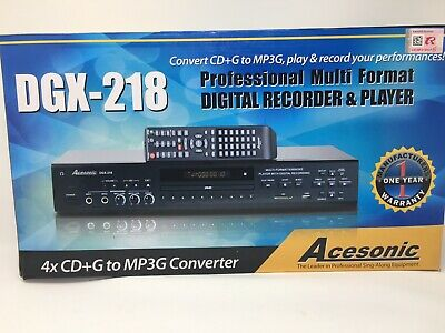 ACESONIC DGX-218 DVD CD+G Karaoke Player Recorder Deck with CD+G MP3G  Converter