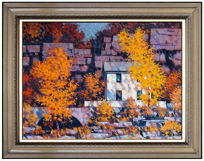 R John Foster Original Oil Painting On Board Signed Landscape Authentic Artwork