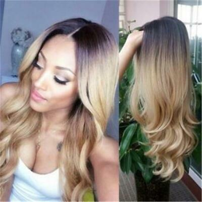 Women Ladies Long Wavy Curly Ombre Synthetic Hair Cosplay Party Full Wig JJ