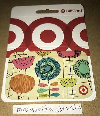 Target Gift Card 2013 Bullseye Flowers No Value Collectible New