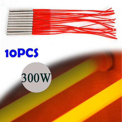 110V 300W 2-Wire Industry Mold Cartridge Heater Heating Element 9.5mmx80mm 10Pcs
