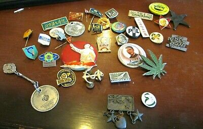 Vintage Pins Bulk Lot inc. Chairman Mao,Qantas, NA, Swatch,Russian