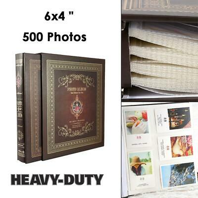 "Durable Large Ringbinder Photo Album 6x4""  500 Photos Memories Design Holds UK"