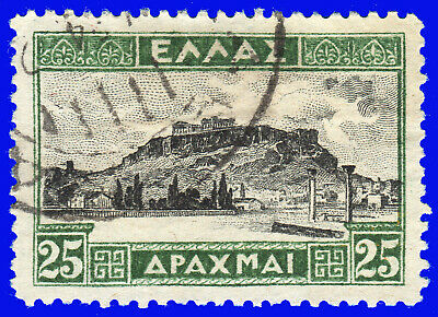 GREECE 1933-35 LANDSCAPES II 25 Dr. USED SIGNED UPON REQUEST