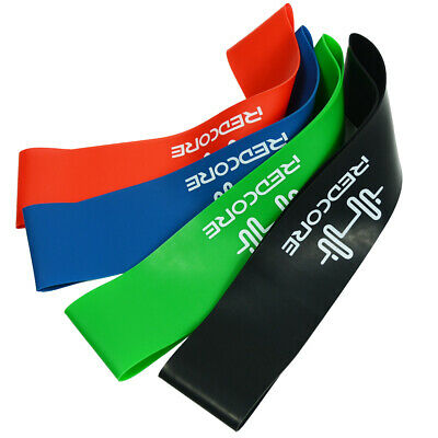 Set of 4 Resistance Exercise Loop Bands Home Gym Fitness Premium Latex UK 4PCS
