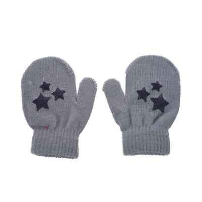 Baby Kids Five-pointed star Pattern Gloves Boys Girls Winter Warm Knitted M Y8L3