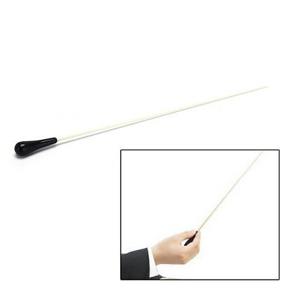 1pc Black ABS Handle Musical Music Conductor Baton Gift White 39CM length BX