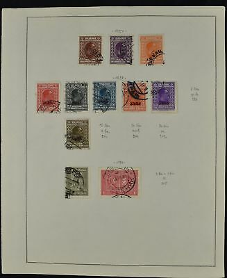 Yugoslavia 1927-28 Album Page Of Stamps #V8431