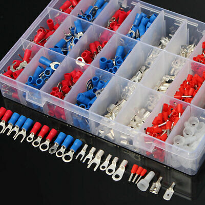 1000pc Insulated Assorted Electrical Wire Terminal Crimp Connector Spade Set Kit