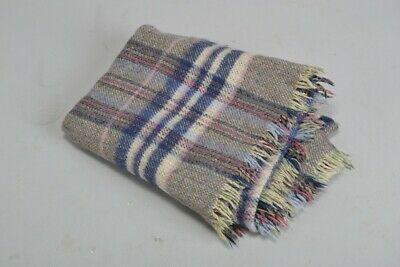 Mid C20th Good Quality Traditional Woollen Travelling Rug. MHH
