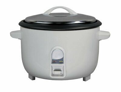 Kitchen Genie Large Family Rice Cooker Stainless Steel 45 Cup / 5.6 Litre 1950W