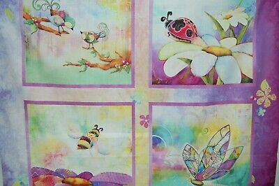 3 Wishes In the Meadow  Digital by Connie Haley 14496 Multi Stained Glass Cotton