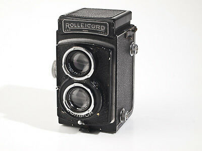 Rolleicord IIc - 6x6cm TLR -  3.5/7,5cm Zeiss Triotar - fully working - exc.
