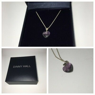 Valentines Day Perfect Gift - Dinny Hall Fluorite Heart Necklace Gorgeous Gift!