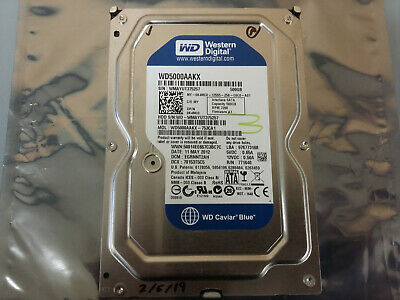 Western Digital 500GB SATA Hard Drive 7200rpm (WD5000AAKX-753CA1) Formatted
