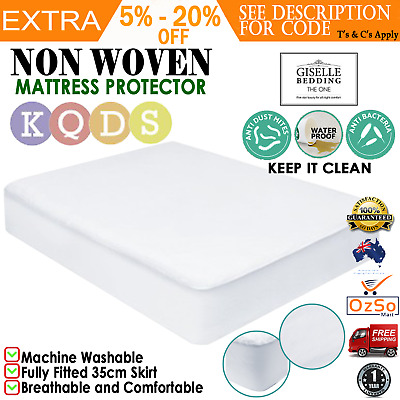 Waterproof Non-Woven Matress Mattress Protector Layer Fully Fitted All Size