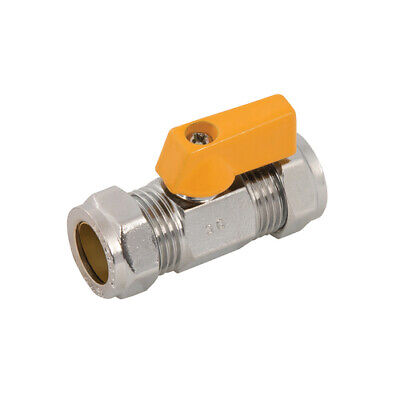 Plumbob Straight Mini Ball Valve 15mm Compression Water Gas Valves 921869